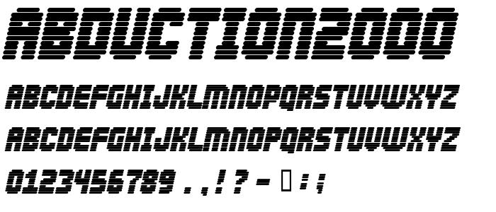 Abduction2000 font