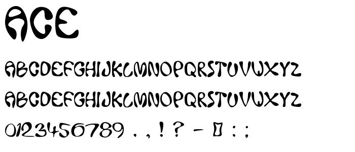 Ace font