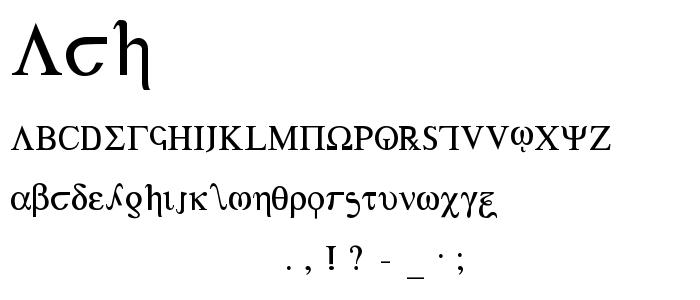Ach4 font