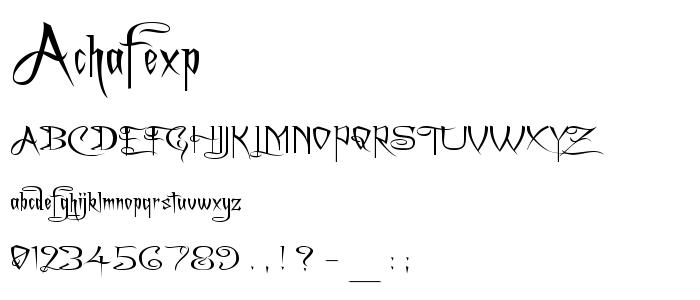 Achafexp font