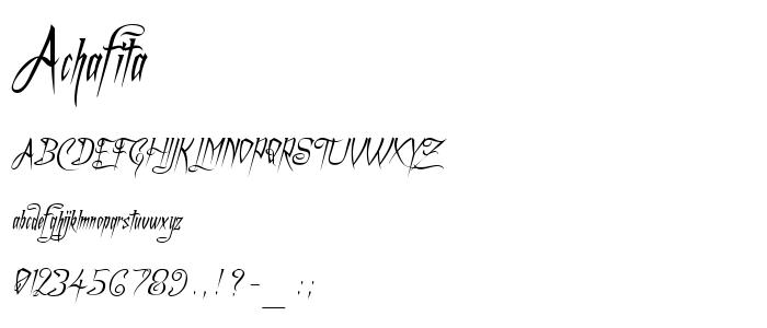 Achafita font