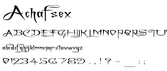 Achafsex font