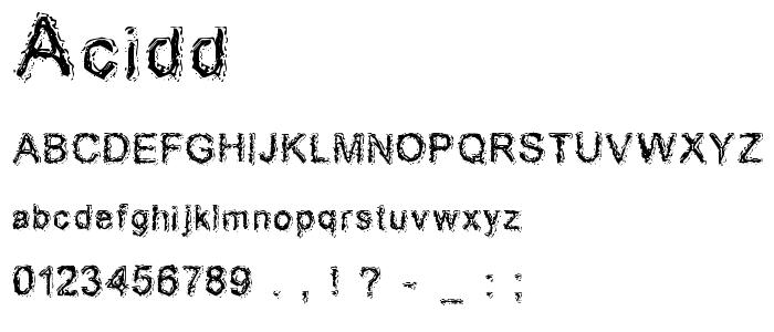 Acidd font