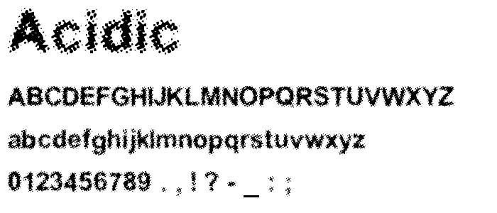 Acidic font