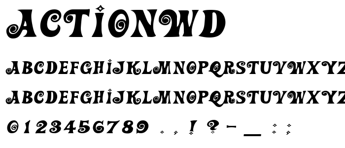 Actionwd font