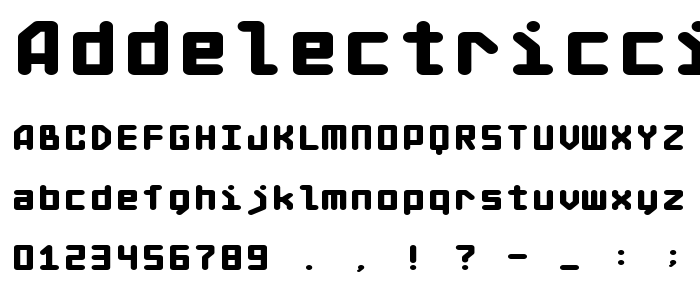 Addelectriccity font