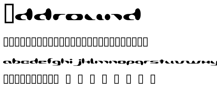 Addround font