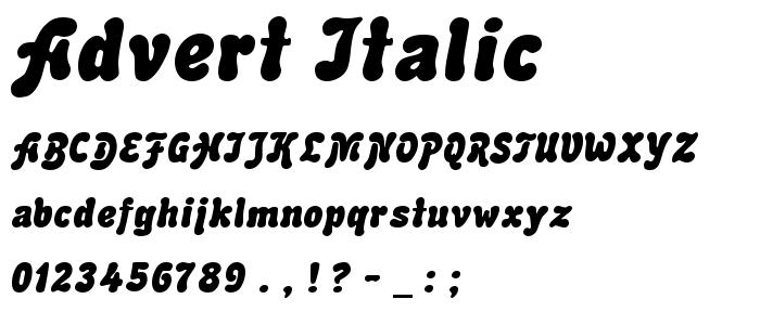 Advert Italic font