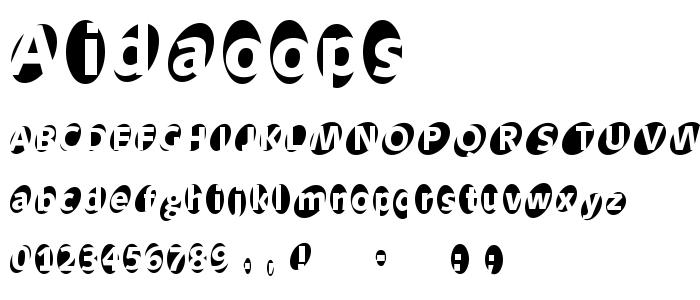 Aidaoops font