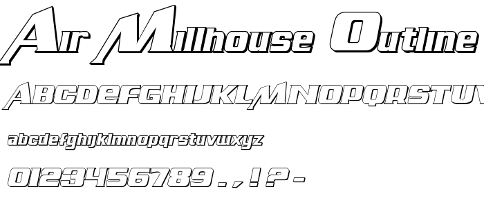 Air Millhouse Outline font