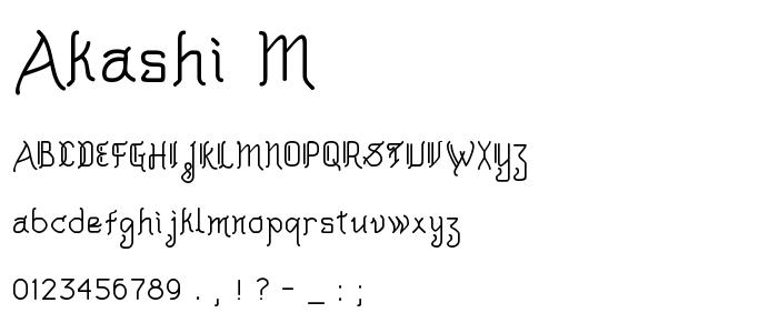 Akashi M font