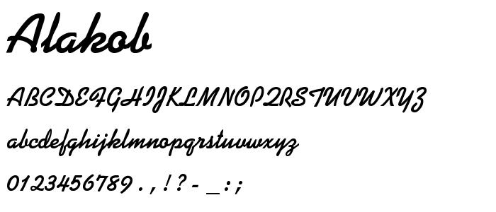 Alakob font
