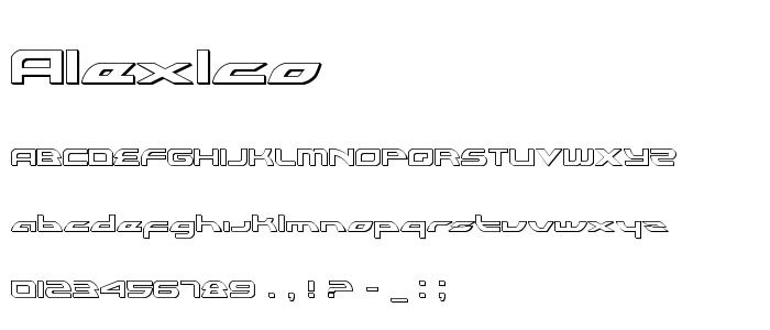 Alexlco font