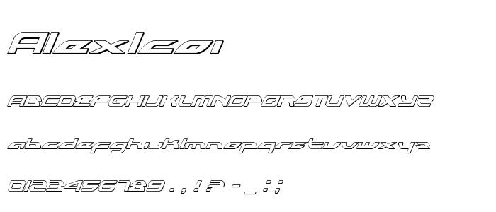 Alexlcoi font