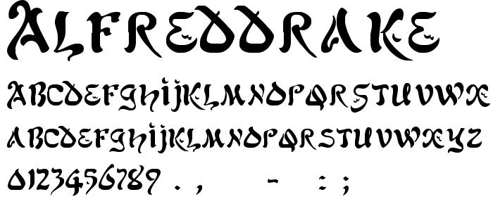 Alfreddrake font