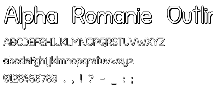 Alpha Romanie Outline G98 font