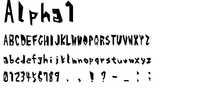 Alpha1 font