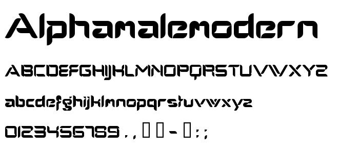 Alphamalemodern font