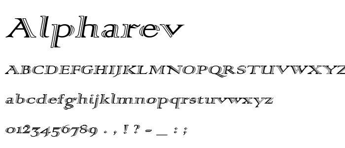 Alpharev font