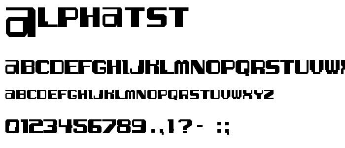 Alphatst font