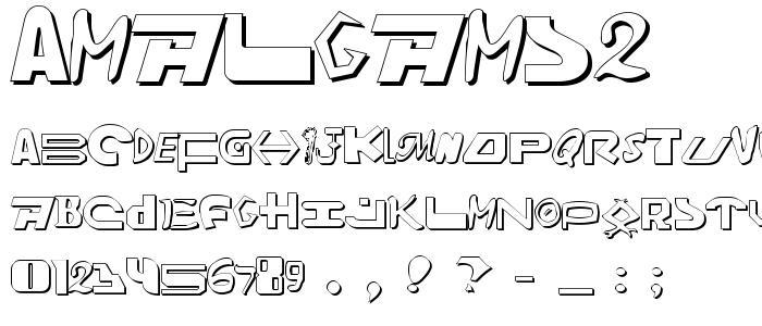 Amalgams2 font