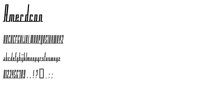 Amerdcon font
