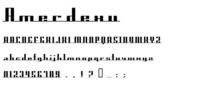 Amerdexu font