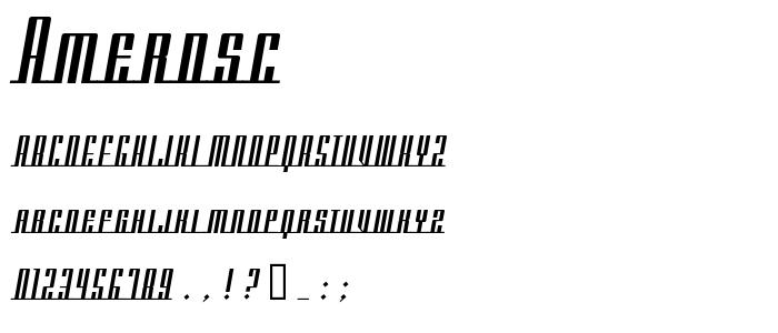 Amerdsc font