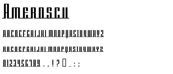 Amerdscu font