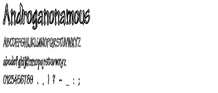 Androganonamous font