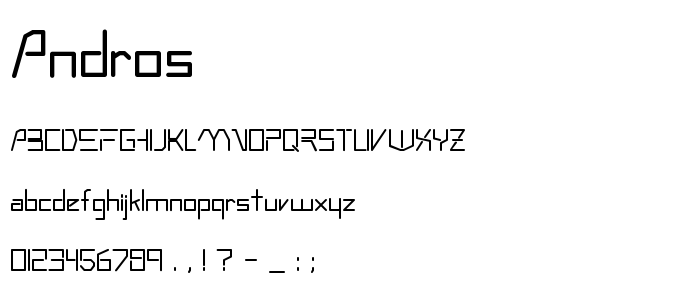 Andros font