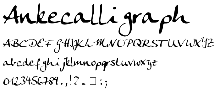 Ankecalligraph font