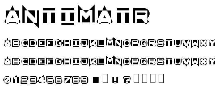 Antimatr font