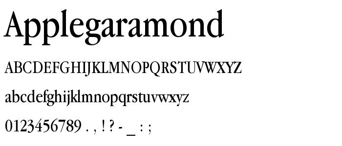 Applegaramond font