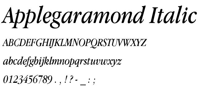 Applegaramond Italic font