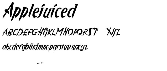 Applejuiced font