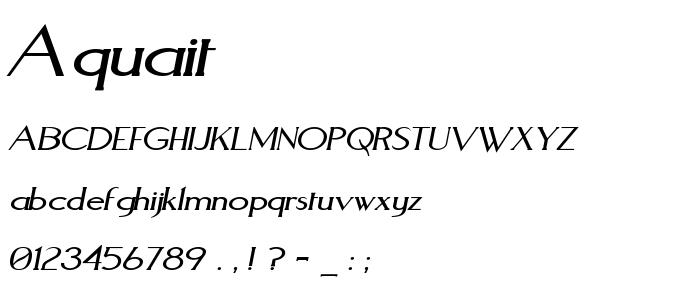 Aquait font