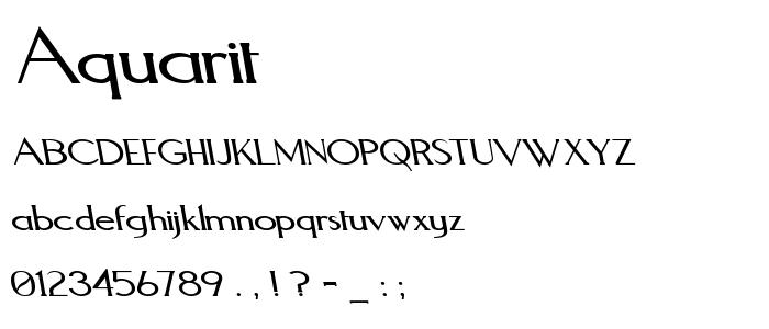 Aquarit font