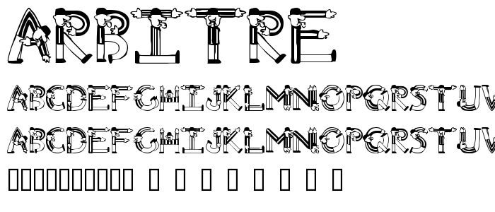 Arbitre font
