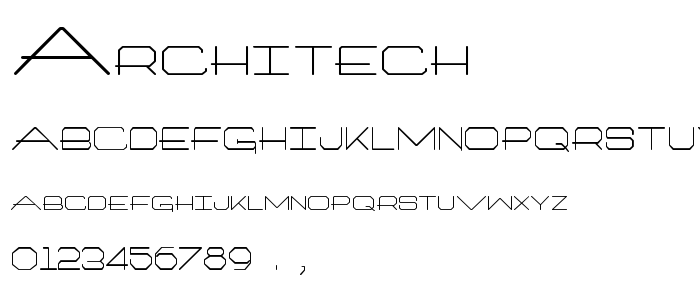 Architech font
