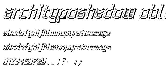 Archityposhadow Oblique font