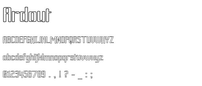 Ardout font