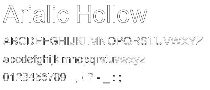 Hollow Fonts Program