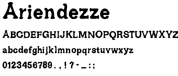 Ariendezze font
