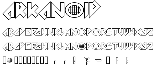 Arkanoid font