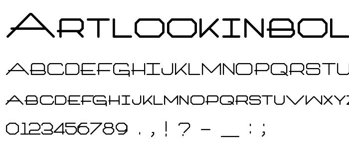 Artlookinbold font