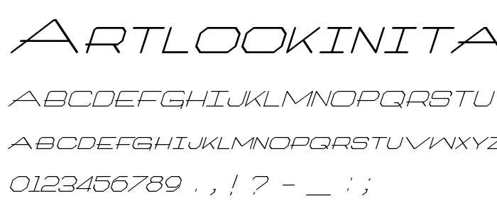 Artlookinitalic font