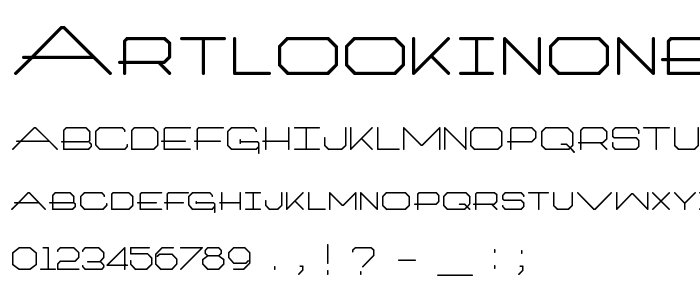Artlookinonetype font