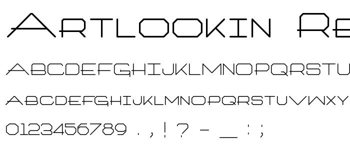 Artlookin Regular font