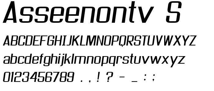Asseenontv S font